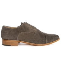 Estime Charcoal Km 2 Leather Brogues Grey