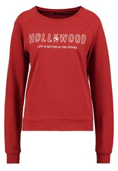 Evenandodd Sweatshirt Dark Red