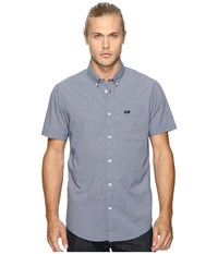 Rvca That'll Do Micro Short Sleeve Inmate Blue Men's Clothing White
