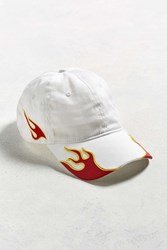 Urban Outfitters Flamez Embroidered Hat White