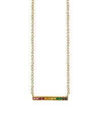 Sydney Evan Yellow Gold Rainbow Bar Necklace Female