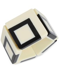 Inc International Concepts Iris X Square Stretch Bracelet Only At Macy's White