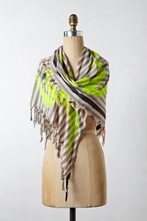 Leigh And Luca Neon Parque Scarf Yellow