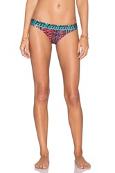 Tigerlily Basak Tiger Bikini Bottom Red