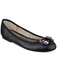 Marc Fisher Cadassi Jeweled Ballet Flats Women's Shoes Black