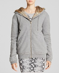 Pam And Gela Hoodie Rabbit Lined Heather Grey