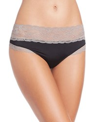 Candc California Lace Top Thongs Black