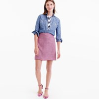 J.Crew Petite Mini Skirt In Pink Houndstooth