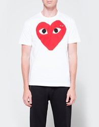 Comme Des Garcons Play T Shirt Red Heart White