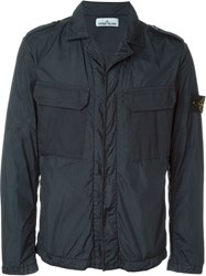 Stone Island Chest Pocket Boxy Jacket Black