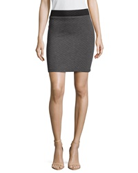 Philosophy Two Tone Quilted Back Zip Skirt Heather Graphite Black