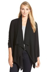 Petite Women's Halogen Wool And Cashmere Drape Front Cardigan