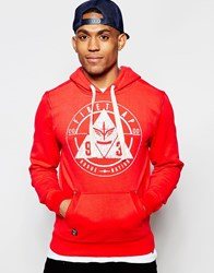 Firetrap Over Head Hooded Sweater Red