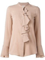 Lareida Ruffled Blouse Nude And Neutrals