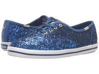 Kate Spade Glitter Keds Blue Glitter Women's Lace Up Casual Shoes