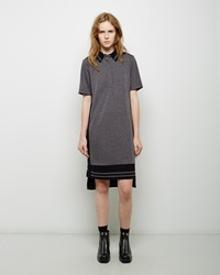 Public School Polo Stripe Dress Charcoal