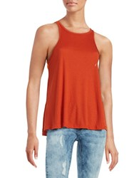 Free People Long Beach Ribbed Tank Top Orange