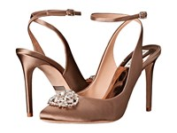 Badgley Mischka Darwyn Taupe Satin Women's Dress Sandals