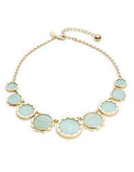 Kate Spade Punchy Petals Statement Necklace Mint