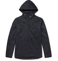 Albam Camouflage Print Shell Ripstop Hooded Jacket Blue