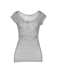 United Colors Of Benetton Topwear T Shirts Women Grey