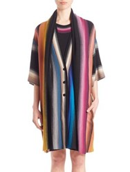 Missoni Long Shawl Collar Cardigan Black Multi