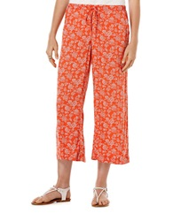 Candc California Printed Culottes Poppy Red