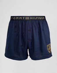 Tommy Hilfiger Organic Cotton Trunk With Contrast Waistband Navy