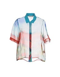 Angelo Marani Shirts Shirts Women Sky Blue