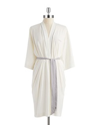 Calvin Klein Stretch Cotton Robe Ivory