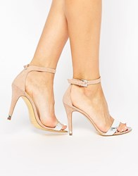 Ted Baker Juliennas Suede Barely There Heeled Sandals Silver