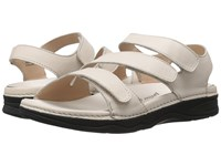 Drew Shoe Angela Bone Smooth Leather Women's Sandals Beige