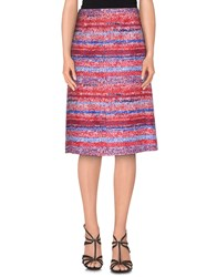 Tory Burch Skirts Knee Length Skirts Women Red