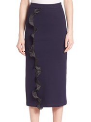 Opening Ceremony Ruffle Pencil Skirt Ink
