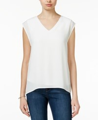 Bar Iii Illusion Cap Sleeve Top Only At Macy's Egret