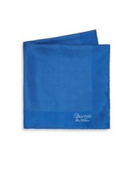 Charvet Micro Dot Silk Scarf Royal Blue