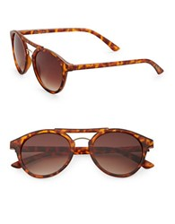 Sam Edelman 50Mm Round Vintage Sunglasses Brown