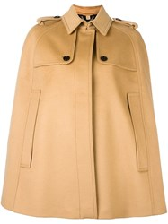 Burberry Buttoned Cape Brown