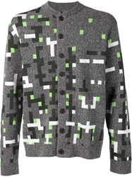 Viktor And Rolf Pixel Embroidery Cardigan Grey