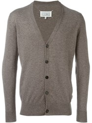 Maison Martin Margiela Elbow Patch Cardigan Grey