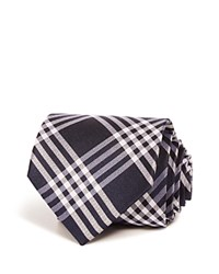 Bloomingdale's The Men's Store At Plaid Classic Tie Navy