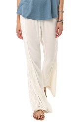 Junior Women's O'neill Lace Inset Flare Pants Naked White