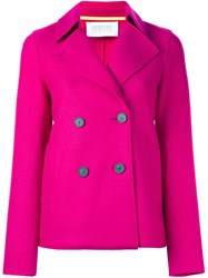 Harris Wharf London Double Breasted Blazer Pink And Purple