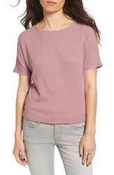 Project Social T Women's Ribbed Open Back Tee Mauve Shadows