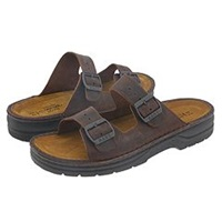 Naot Footwear Mikael Crazy Horse Leather Men's Sandals Brown
