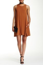 Astr Alex Shift Dress Brown
