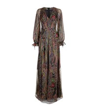 Etro Paisley Devore Peasant Gown Female Black