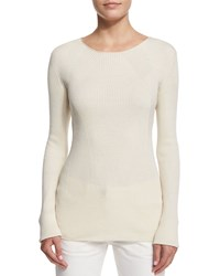 The Row Aven Long Sleeve Cable Knit Sweater Natural