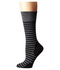 Smartwool Stria Crew Black Men's Crew Cut Socks Shoes