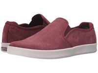 Mark Nason Knoxville Burgundy Nubuck White Bottom Men's Slip On Shoes Brown